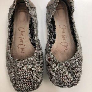 TOMS Tweed Ballet Flats Size 8